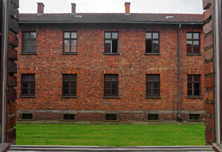 jewish community: Dormitory in Auschwitz concentration camp, Poland. Editorial