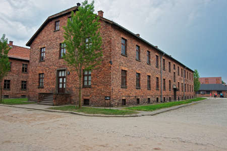 jewish community: Auschwitz, Poland - May 2, 2014: Dormitory of Auschwitz concentration camp, Poland.