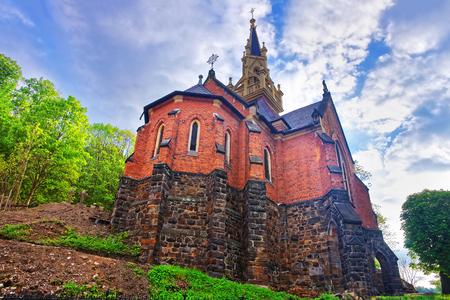 Saint Luke Church on the Castle Hill in Karlovy Vary, Czech republic.