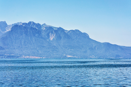 Nature in Geneva Lake Riviera in Montreux, Vaud canton, Switzerland Stock Photo