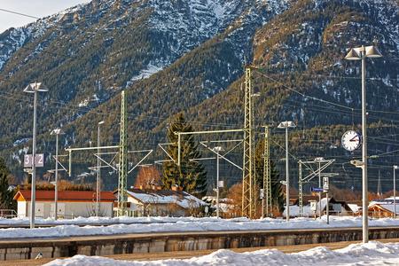 Railway train station, Garmisch-Partenkirchen, Germany.