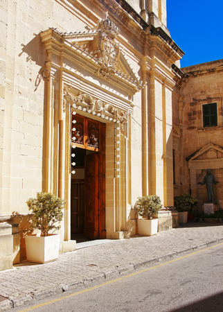 Church doorway, Rabat, Malta