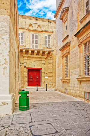 Doorway at St Dorothy convent, Mdina, Malta Stock Photo