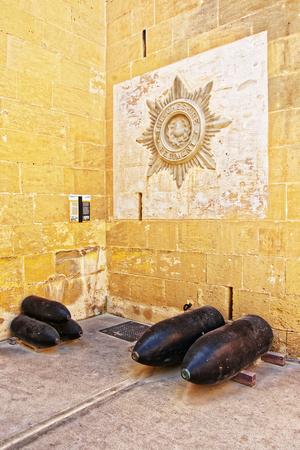 War museum shell at St Elmo fort in Valletta in Malta