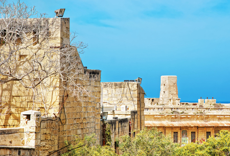 St Elmo fort in Valletta in Malta Stock Photo