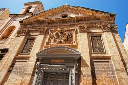 Facade of Saint Francis of Assisi Church in Valletta, Malta