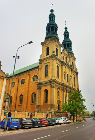 St Francis Assisi Church in the city center of Poznan, Poland Stock Photo