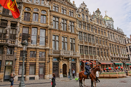 Brussels, Belgium - May 11, 2012: Grand Place with guildhalls in Brussels, capital of Belgium.