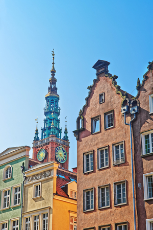 Tower of Old City Hall in the old city center, Gdansk, Poland. Zdjęcie Seryjne