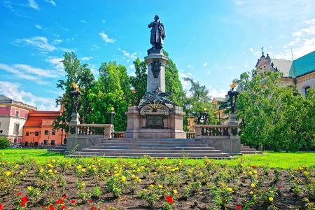 dramatist: Adam Mickiewicz monument in Warsaw, Poland