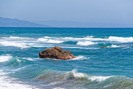 shorelines: Waves at the shore of the Mediterranean Sea in Marbella, Andalusia, Spain