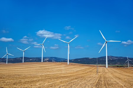 Wind mills in Spain, summer