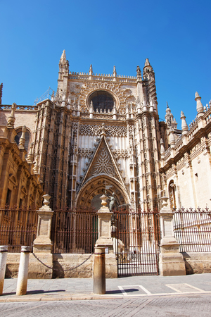 princes street: Door of Prince in St Mary of the See Cathedral in Seville, Andalusia, Spain.