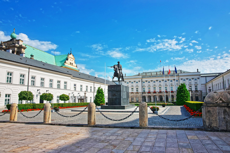 princes street: Prince Jozef Poniatowski sculpture at Presidential Palace in Warsaw, Poland