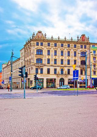 wielkopolska: Poznan, Poland - May 7, 2014: Bazar on Paderewski Street in Poznan, Poland. People on the background