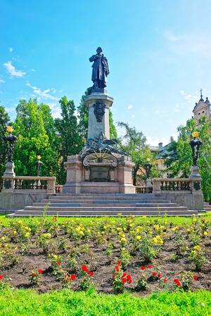 dramatist: Adam Mickiewicz monument of Warsaw, Poland