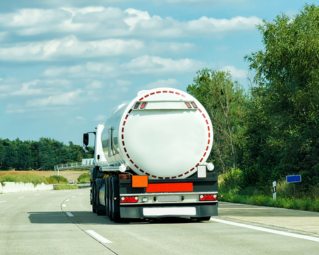 Tanker storage truck on the roadway of Germany