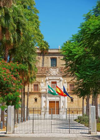 Parliament of Andalusia building in Seville, Spain.