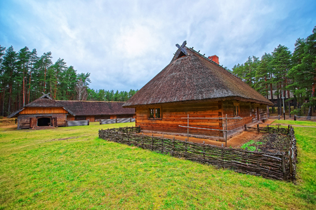 ethnographical: Old buildings in Ethnographic open air village of Riga, Latvia