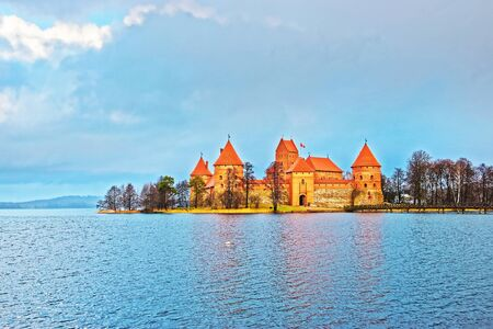 Trakai island castle museum and Galve lake, near Vilnius, Lithuania