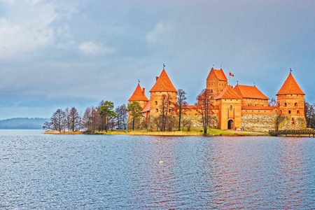 Trakai island castle museum at Galve lake, near Vilnius, Lithuania