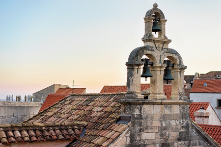 croatian: Roof of Church in Dubrovnik, Croatia