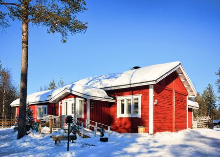 rovaniemi: House in winter reindeer farm in Rovaniemi, Lappish Finland.