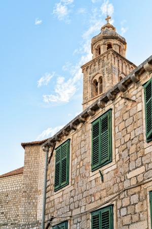 ragusa: Spire of Dominican Monastery at the Old town in Dubrovnik, Croatia