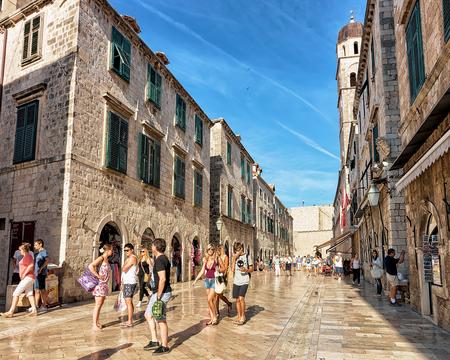 Dubrovnik, Croatia - August 20, 2016: Stradun Street and people, in the Old city of Dubrovnik, Croatia