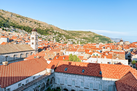 ragusa: Old city of Dubrovnik with red roof tile, Croatia