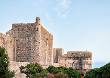 ragusa: Fort Bokar at the Old town of Dubrovnik, Croatia. Stock Photo