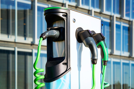 Electro charging station in the city