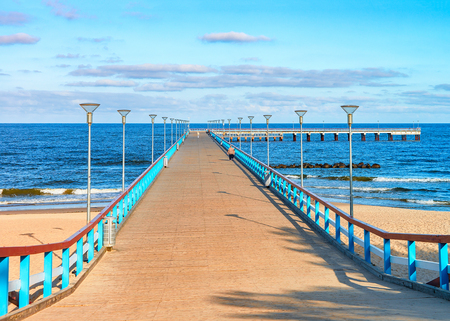 Sea Bridge at the Baltic Sea in Palanga resort, Lithuania