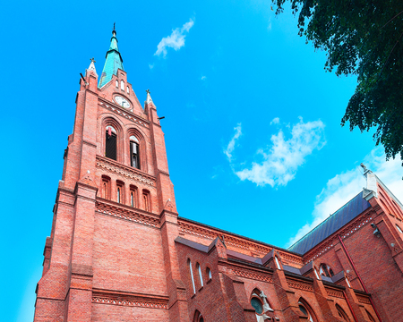 Church of Assumption of Virgin Mary in Palanga, Lithuania 스톡 콘텐츠