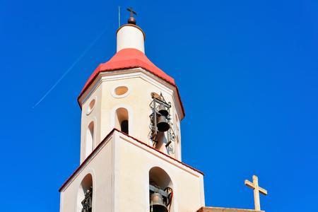 Belfry of St Matthew Church in Agerola, Bomerano, Amalfi coast, Italy