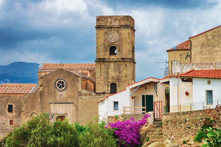 Church of San Michele in Savoca village, Sicily, Italy Standard-Bild