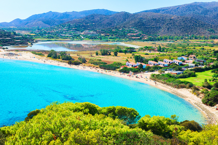 Chia beach on the Mediterranian Sea, Sardinia, Italy