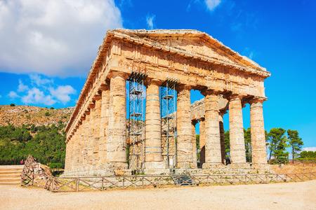 Doric temple at Segesta in Sicily, Italy