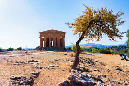 Temple of Concordia in Agrigento, Sicily, Italy Stock Photo