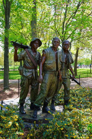 Washington DC, USA - May 2, 2015: Vietnam War Memorial in the National Mall, Washington, USA.