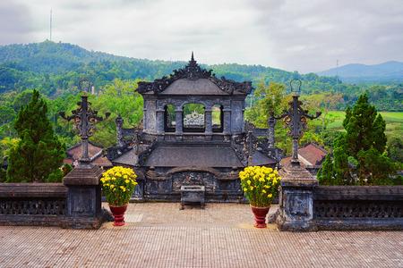 Pagoda in Khai Dinh Tomb in Hue, Vietnam Reklamní fotografie