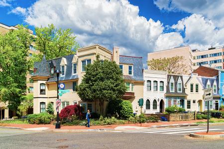Washington DC, USA - May 2, 2015: Foggy Bottom historical neighborhood in Washington D.C., United States of America. 에디토리얼