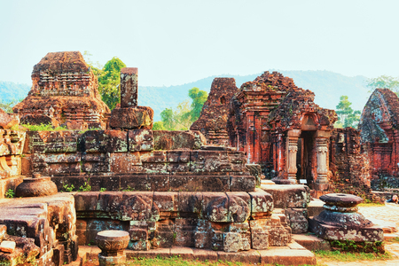 Remainings of Old hindu temples at My Son, Vietnam