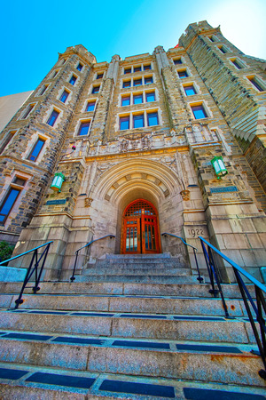 Philadelphia, USA - May 4, 2015: Conwell Hall of Temple University building in Philadelphia, Pennsylvania, the USA.