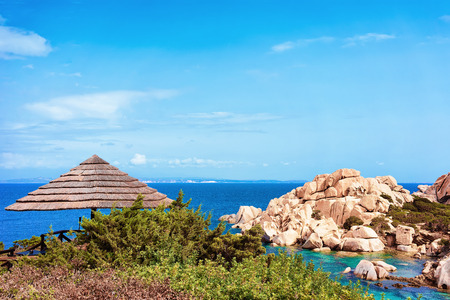 Rocks at Capo Testa, Santa Teresa Gallura, on Mediterranean sea, Sardinia in Italy
