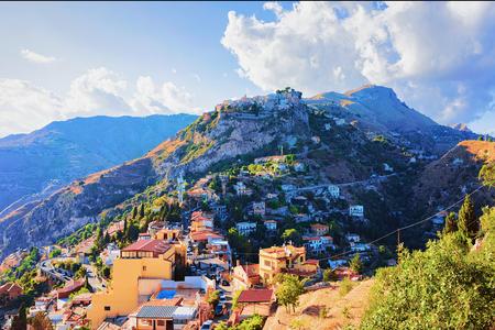 Mountain in Taormina, Sicily, Italy