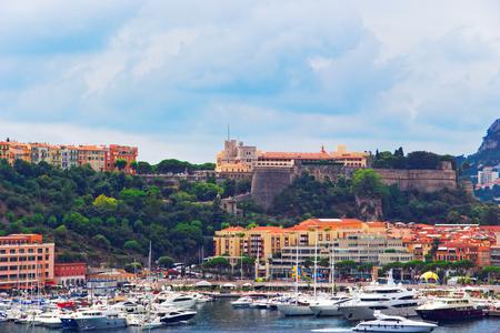 Monaco, Monaco - August 9, 2010: Luxury yachts at Hercule Port in Monaco, French Riviera. Editorial