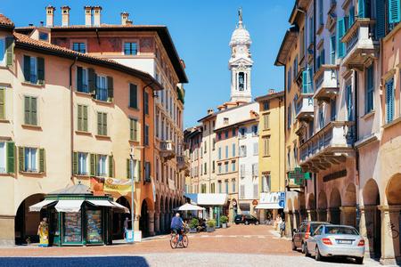 Bergamo, Italy - August 22, 2016: Via Sant Alessandro Street in Lower City of Bergamo in Lombardy in Italy Editorial