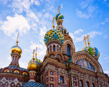 Church of Savior on Spilled Blood in Saint Petersburg, of Russia.