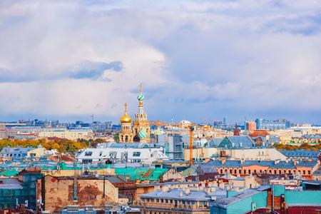 Stadtbild der Auferstehungskirche in St. Petersburg, Russland.
